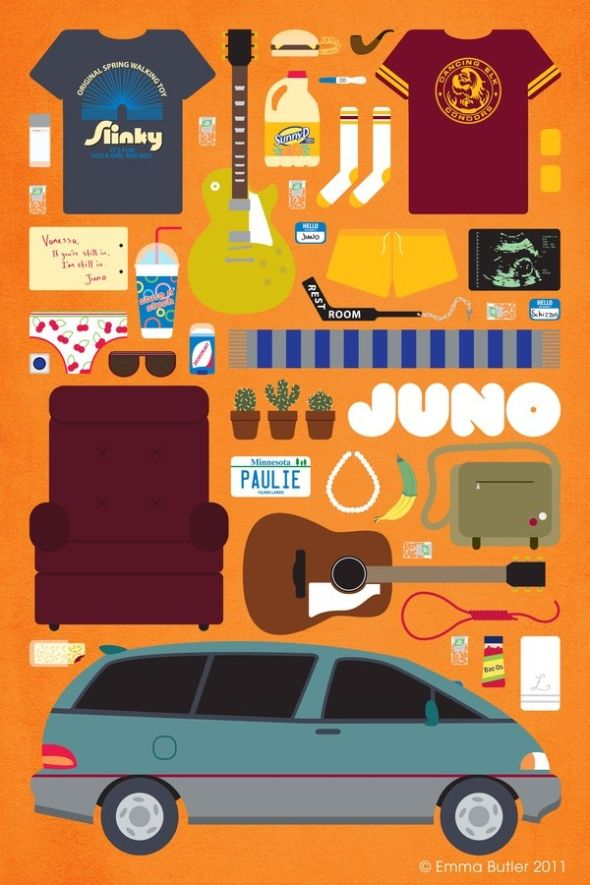 Movies we love, piece by piece.Film, Minimalist Movie Posters, Picture-Black Posters, Juno Movie, Art, Alternative Movie, Junomovi Posters, Emma Butler, Favorite Movie