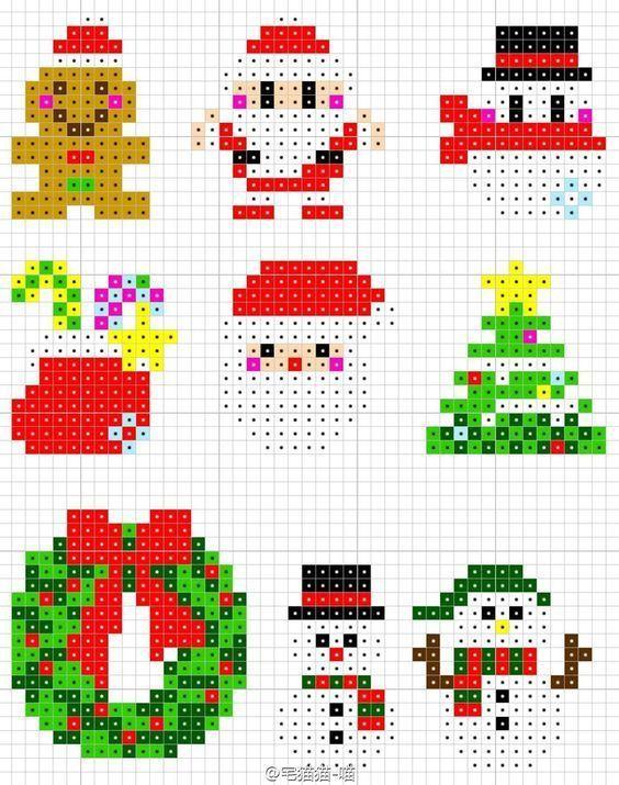 Perler Christmas ornaments