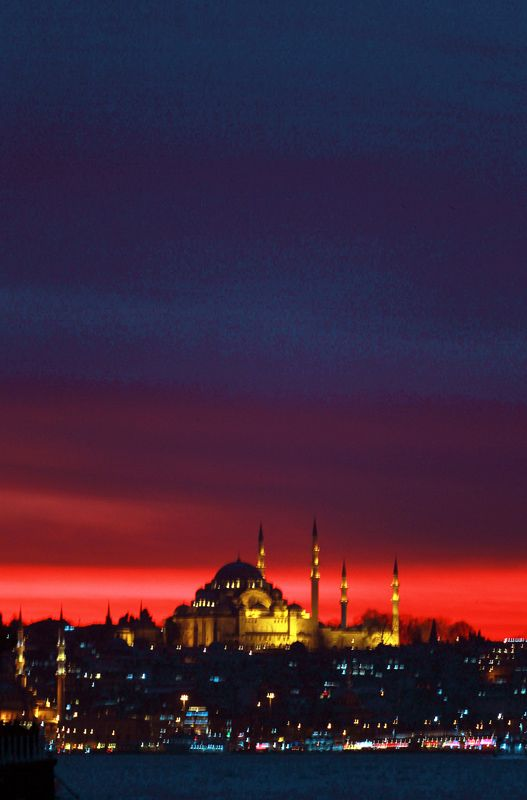 Sunset in Istanbul - , Istanbul