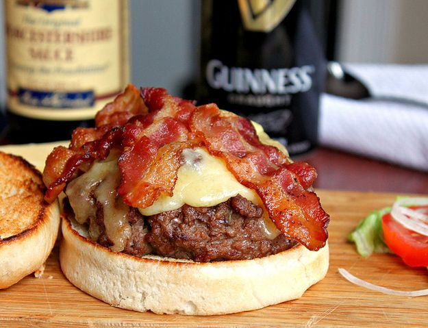 Guinness Bacon Cheeseburgers | 34 Ways To Eat Guinness On St. PatricksDay
