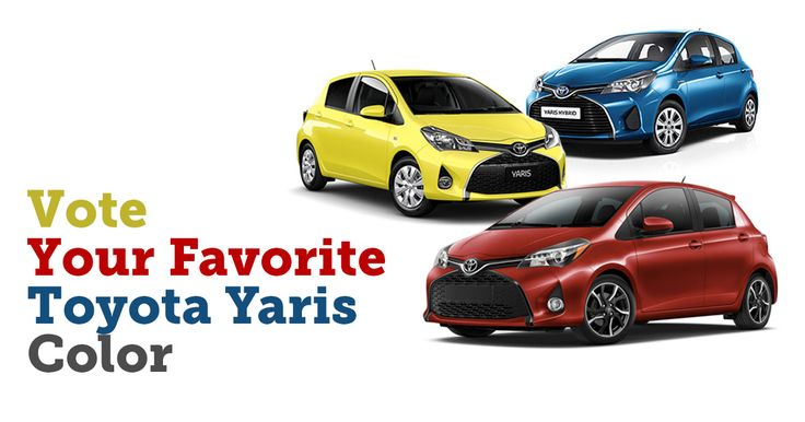 Vote your favourite #Toyota #Yaris colour  1. Red 2. Yellow 3. Blue   Vote & Share