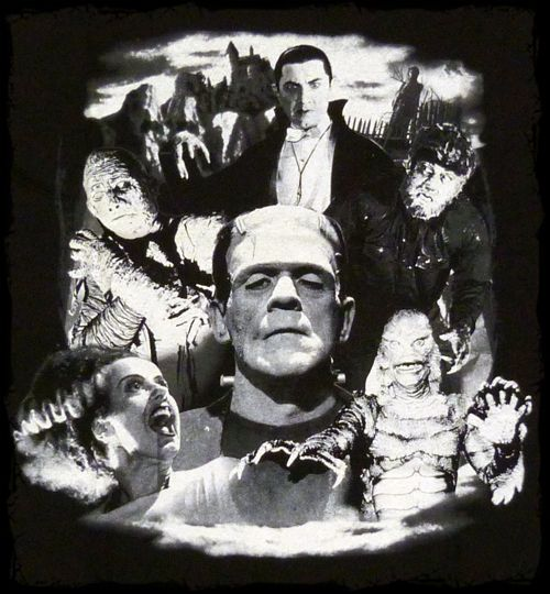 vintage monsters | Classic Horror Monster Movie collage