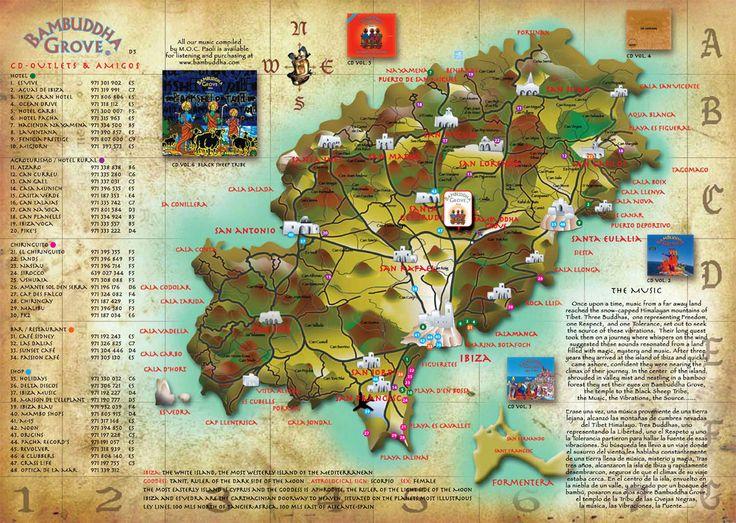 26 best Ibiza Maps images on Pinterest Ibiza map Maps and