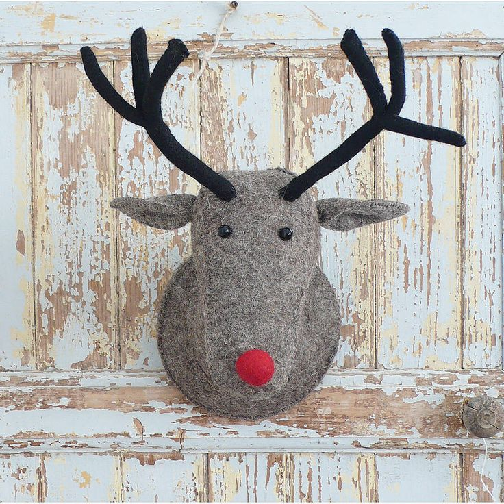 Felt Reindeer Head