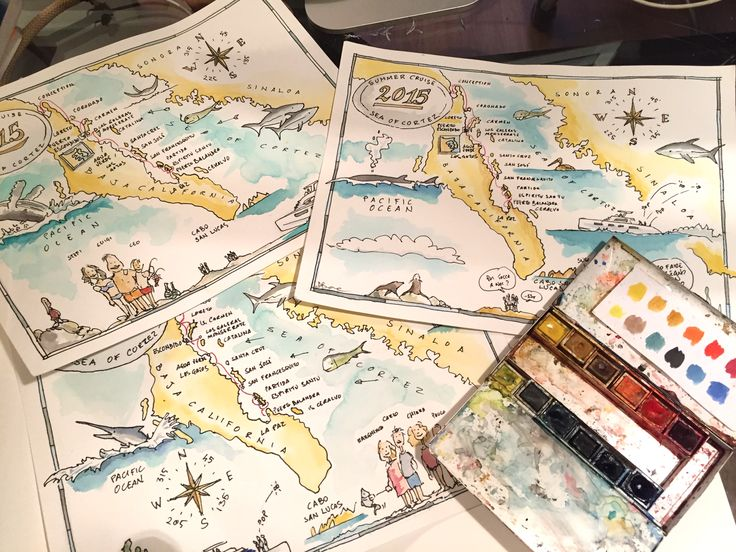 mappe delle vacanze in Mare di Cortez