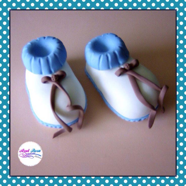 Zapaticos de bebe masa flexible biscuit