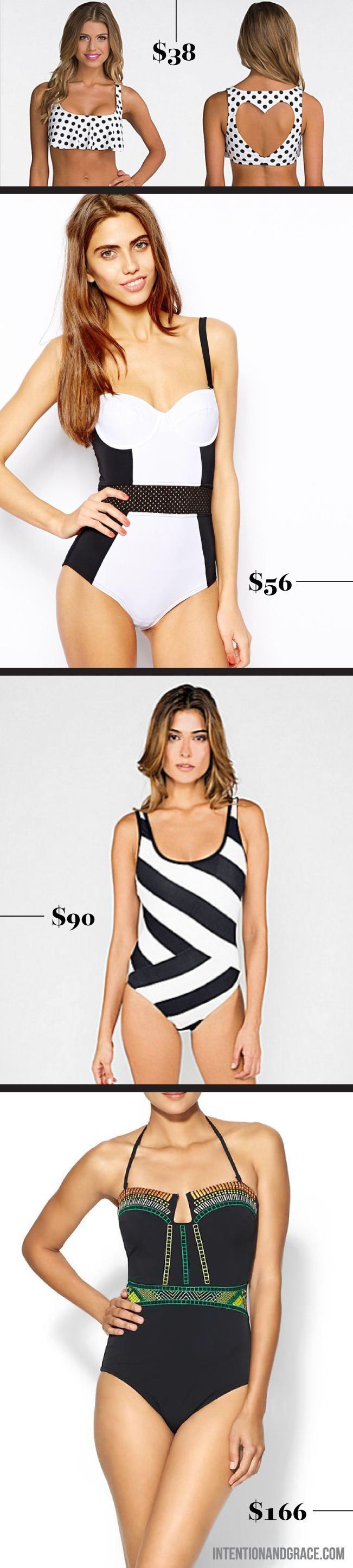 2014 Swimsuit trends for summe. Going for a One Piece, Tankini or Bikini, here are some great options.  |  Intentionandgrace.com