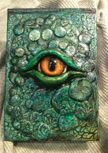 Sample from Cold-blooded journal class from Upstart Crow in Delta.  Uses Kroma paints (Granville Island)