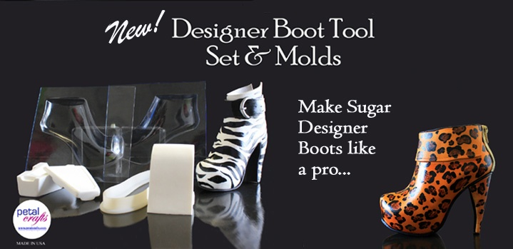 Do you love boots?  If you do then you will love this Designer Boot Tool that will have your cakes looking fabulous with this on top!