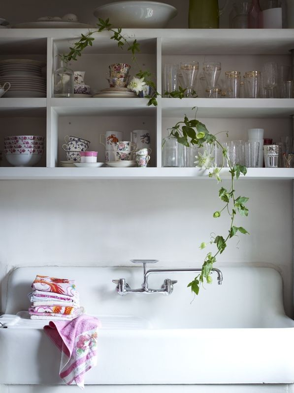 pantry/utility room - i have a sink like this!!