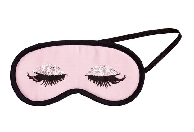 A sleep mask with sequin eyeshadow. | 36 Insanely Awesome Things Under $40 You Need For Your Bedroom