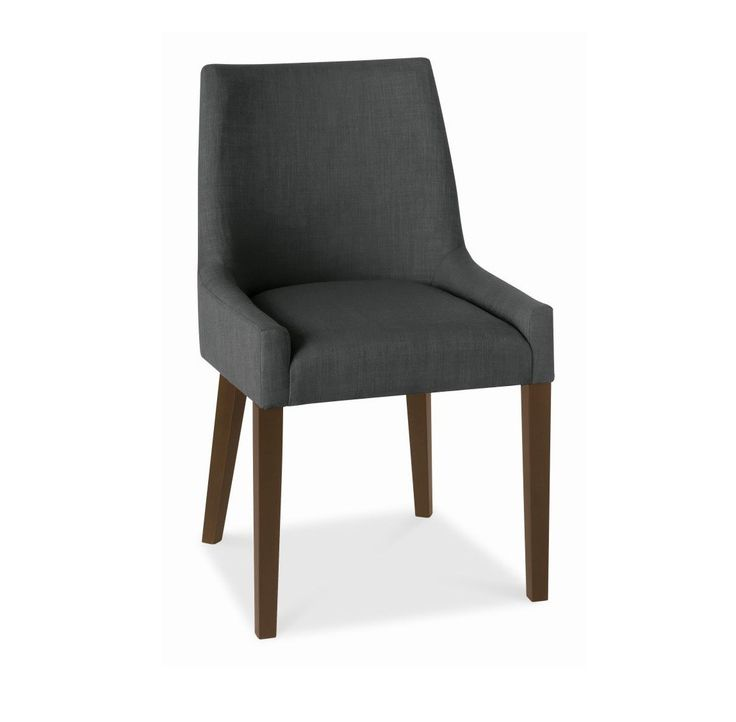 Alex Charcoal Upholstered Dining Chair With Walnut Legs
