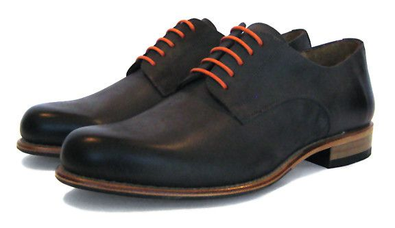 Men's Goodyear Welted Simple Gibson Waxy Grey