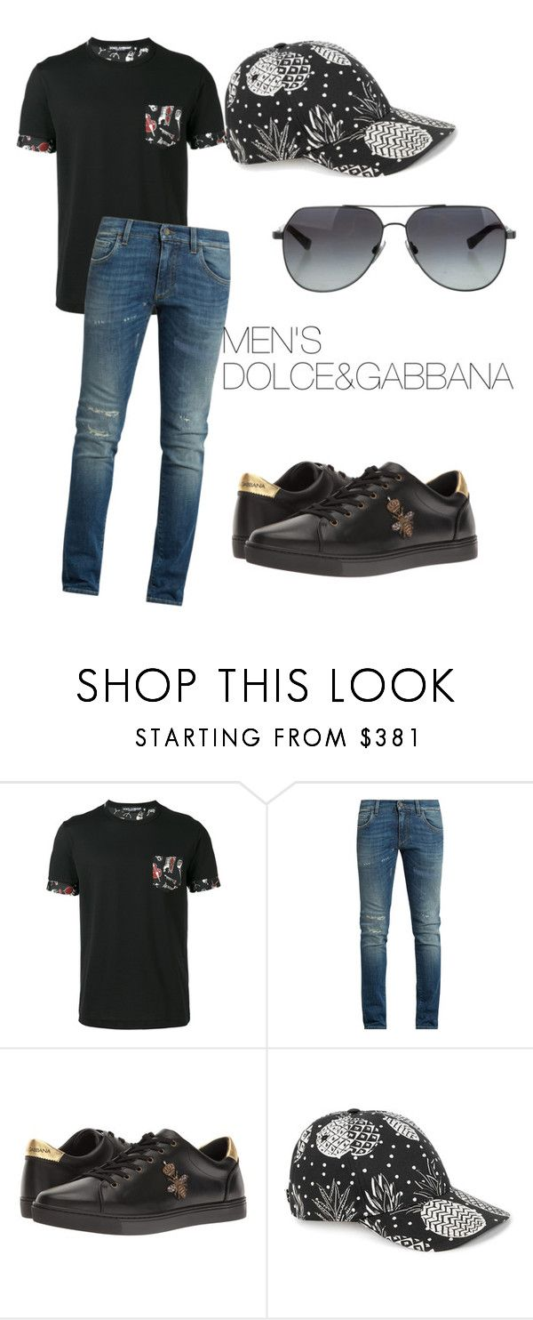 """outfit#97"" by alifia-fae on Polyvore featuring Dolce&Gabbana, men's fashion and menswear"