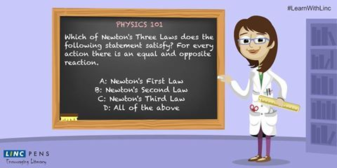 How much do you know about #Newton's Law? #LearnWithLinc