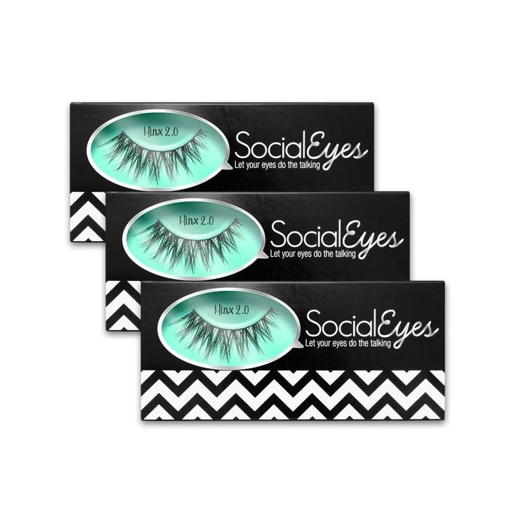 SocialEyes Minx 2.0 3 Pack Bundle Cruelty Free Fake Eyelashes False Black. Each pair of SocialEyes Lashes has been handcrafted to enhance and emphasize the power and beauty of your eyes. Our Vegan friendly lashes are lightweight, easy to apply and reusable (Over 5-8 Times) with proper care. You'll always be ready to SocialEyes. Share your makeup look using this Lash! Tag your photo using:. #SEminx2Lash. #SocialEyesLash.