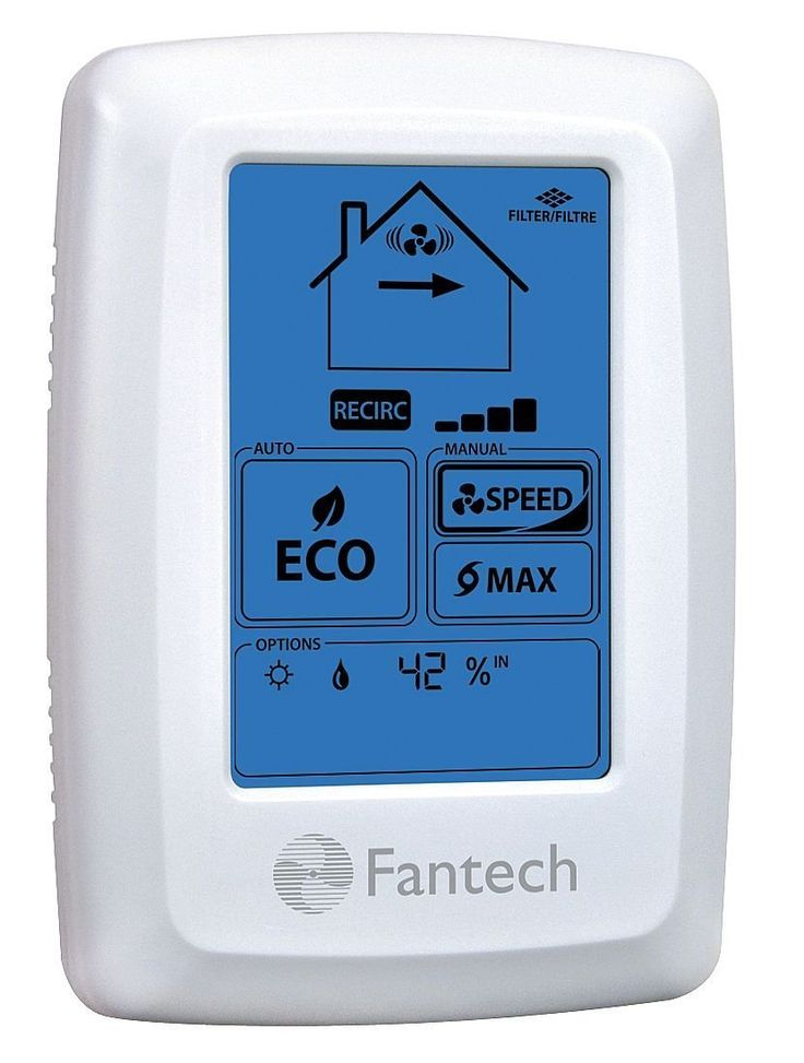 fantech eco touch electronic programmable wall control on wall control id=86255