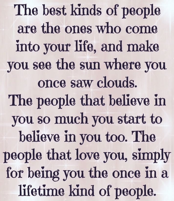 Once in a lifetime kind of people
