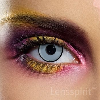 Zombie - Zombie Auge (weiß schwarze Linse) #contacts