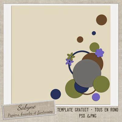 """Template """"Tous en rond"""" Sabyne"""