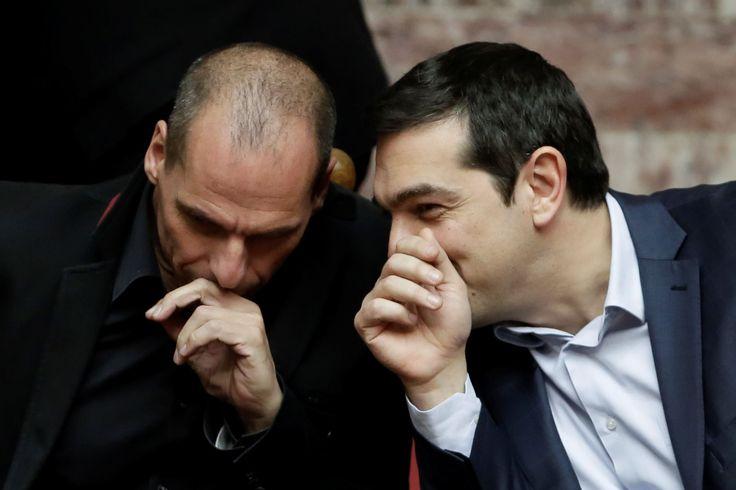 Tsipras Varoufakis - Associated Press