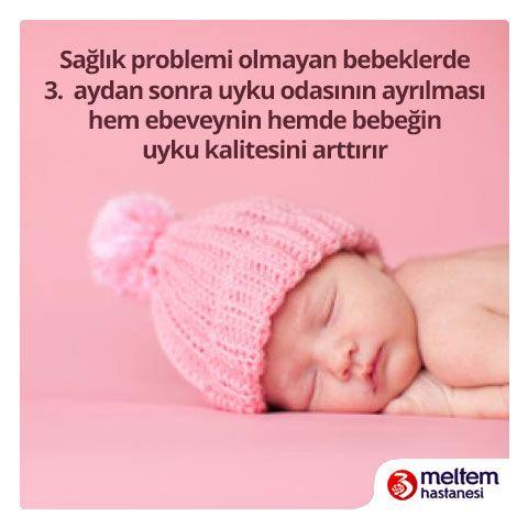 Uyku, bebeklerin beyin gelişiminde önemli role sahiptir. Özellikle mükemmel bir gece uykusu, bebeğin gün boyu öğrendiklerini düzenlemesini, enerji deposunu yenilemesini ve güne mutlu ve zinde başlayarak öğrenmeye açık hale gelmesini sağlayıp zihinsel gelişimini hızlandırır #MeltemHastanesi #SağlıklıBebekler #GeceUykusu