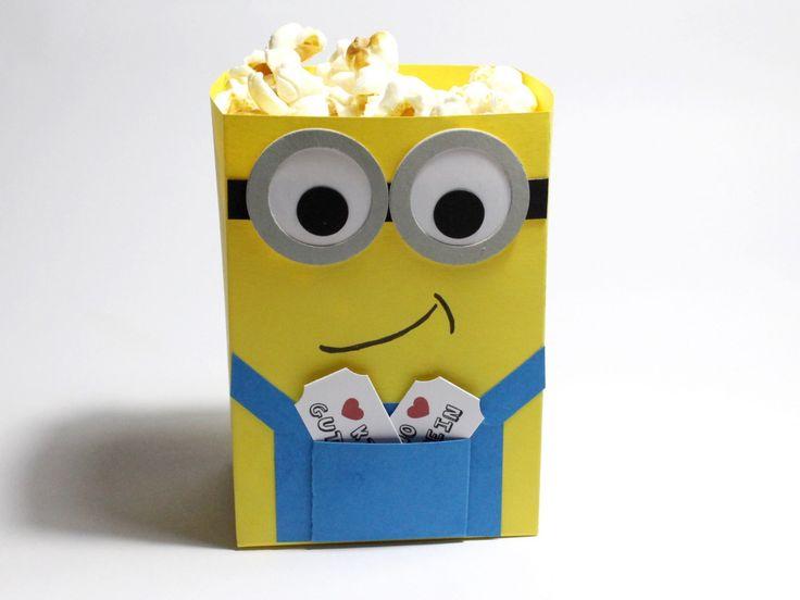 Schön Minion Popcorn Tüte   Stampin Up