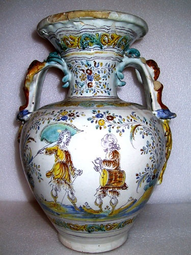 Anfora del siglo XVIII,de Talavera de la Reina,Museo Sorolla Madrid