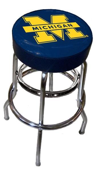 Michigan Wolverine Logo Bar Stool Ultimatetailgate Fanatics
