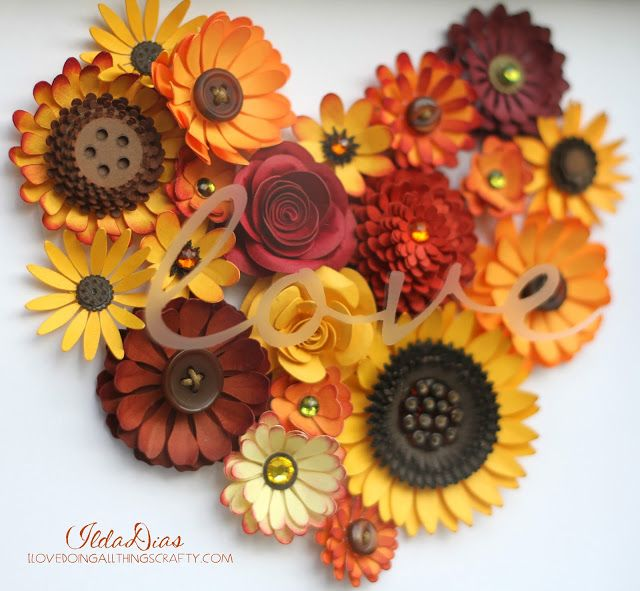 "(I) (L)ove (D)oing (A)ll Things Crafty!: Autumn ""love"" Flower Shadow Box Tutorial"