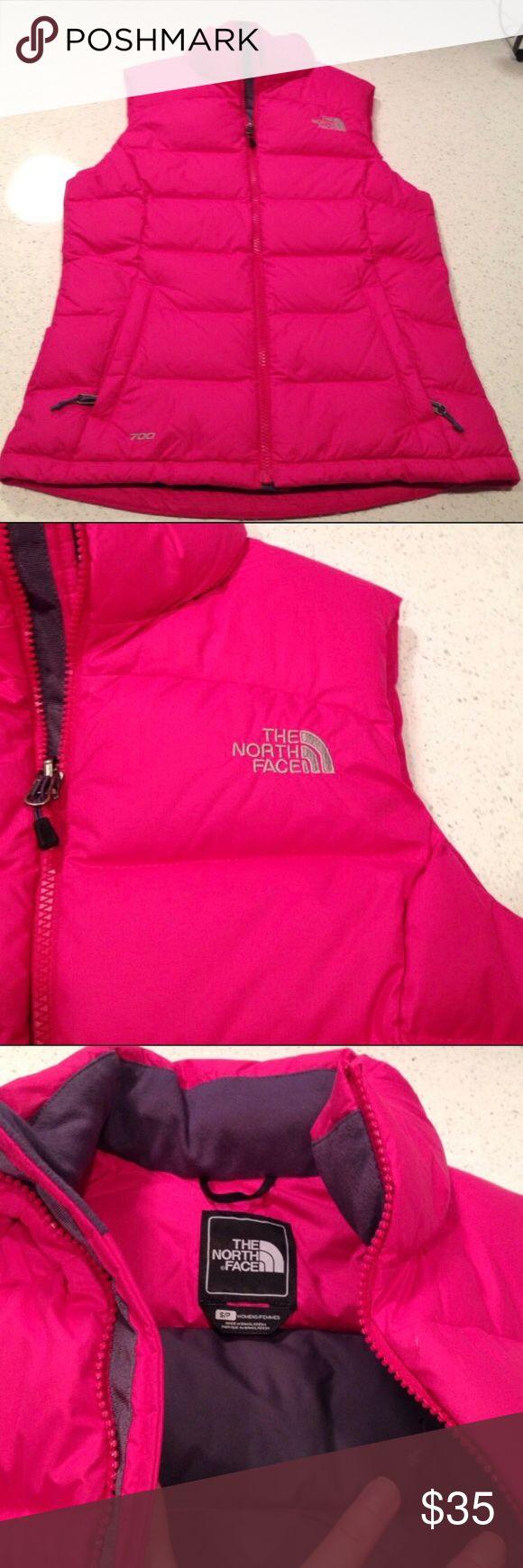 North Face Pink Vest Small 700 Series Excellent condition size small North Face vest 700 series North Face Jackets & Coats Vests