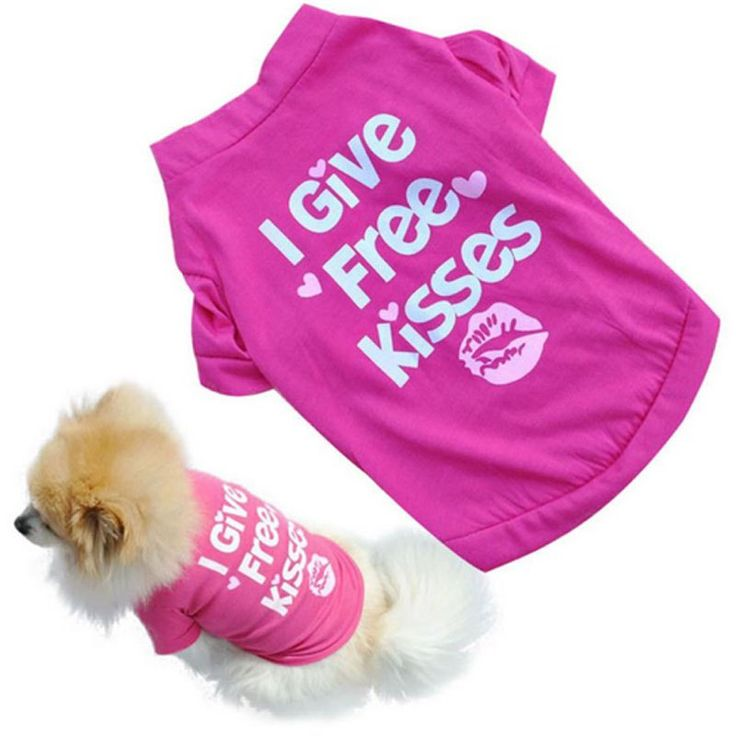 Lovely Letter Kisses Dog Clothes Coat Spring Automn Coat Pet Clothes For Small Dogs Ropa Para Perros Chihuahua Clothing //Price: $3.95 & FREE Shipping //     #hashtag3