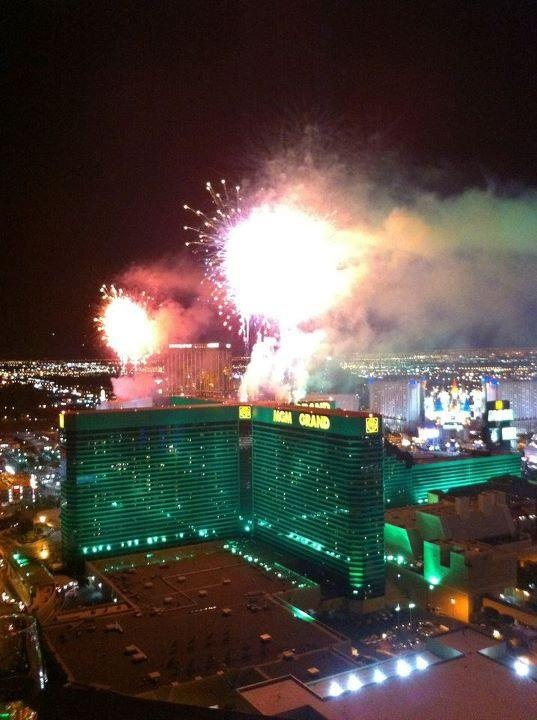 New Year's Fireworks. View from The Signature at MGM Grand #NYE #Vegas