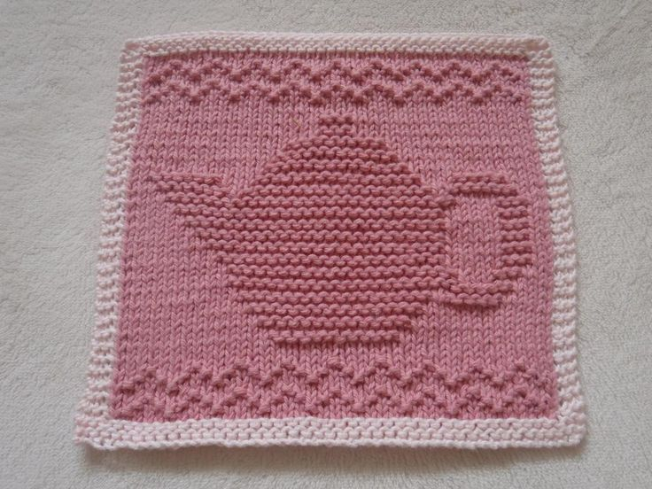 Teapot III Dishcloth by bubweez2745645 | Knitting Pattern - Looking for your next project? You're going to love Teapot III Dishcloth by designer bubweez2745645. - via @Craftsy