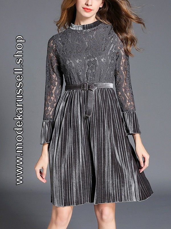 Elegantes Damen Kleid in Silber