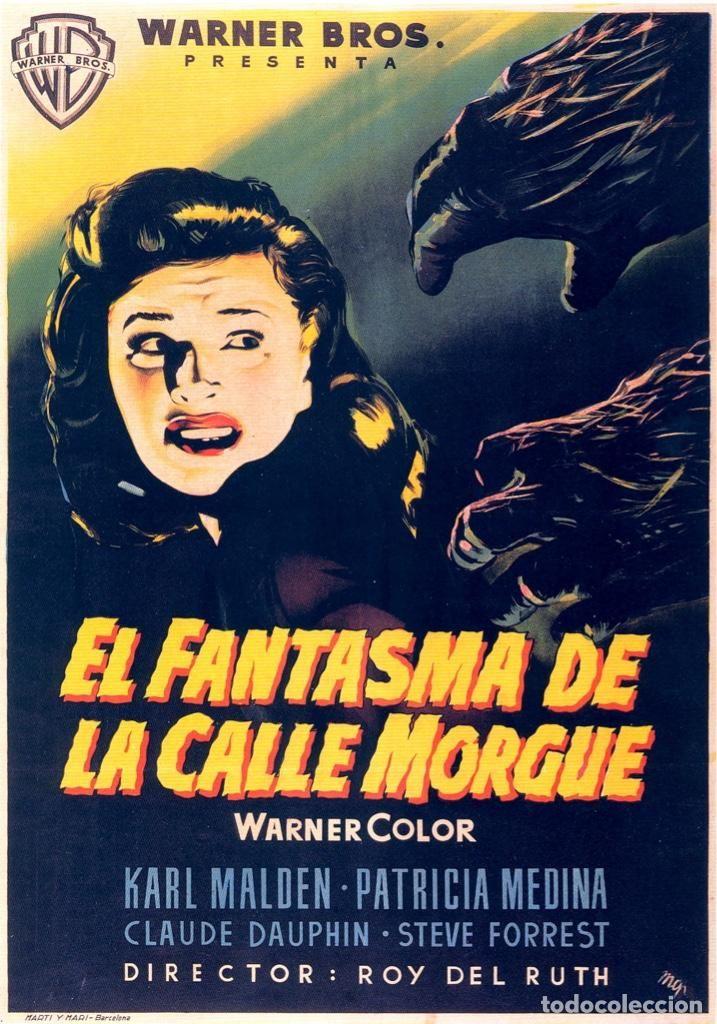 El Fantasma De La Calle Morgue Clasico Del Cine De Terror De Los 50 Movie Posters Vintage Horror Posters Movie Posters