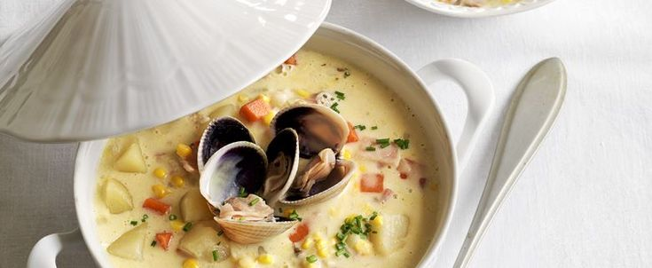 Fisherman's Wharf Clam Chowder with Garlic Sourdough Toast recipe, brought to you by MiNDFOOD.