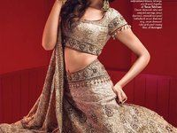 Indian actress Deepika Padukone - VOGUE INDIA Bridal Lehenga with heavy embroideries.