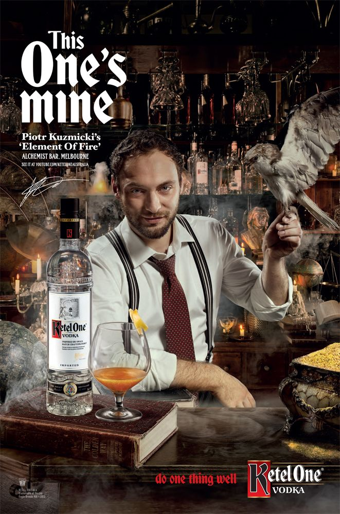 Photographer Scott Newett shoots the latest campaign for Ketel One Vodka. Styling: Hayley Callander Hair + Make Up: Nigel Stanislaus