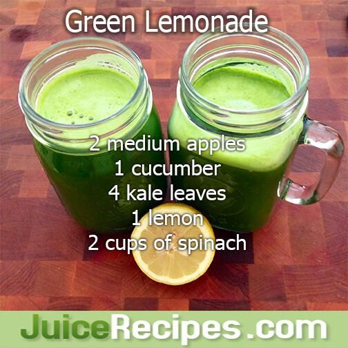 Green Lemonade Juice Recipe--healthy and delicious green juice!