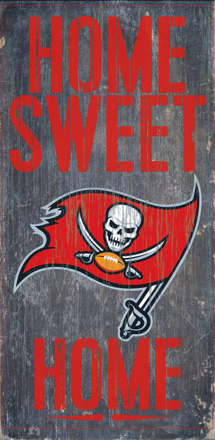 Tampa Bay Buccaneers Wood Sign - Home Sweet Home 6x12