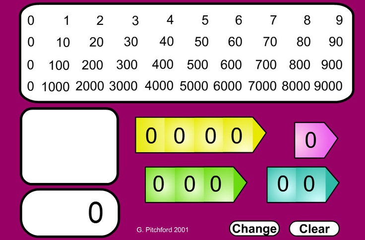 Place value game - from 0 to 9000