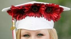 Wish I had thought of this..  graduation cap decoration