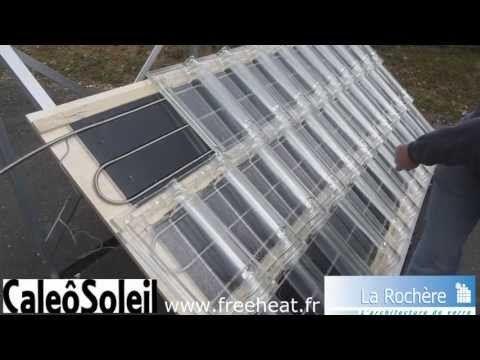 Tuile solaire thermique CaleoSoleil, panneau solaire en tuiles de verre, chauffage solaire invisible #depannage #depannageserrure #plombier #plombier95 #plombierchauffagiste #plombierparis #serrurier