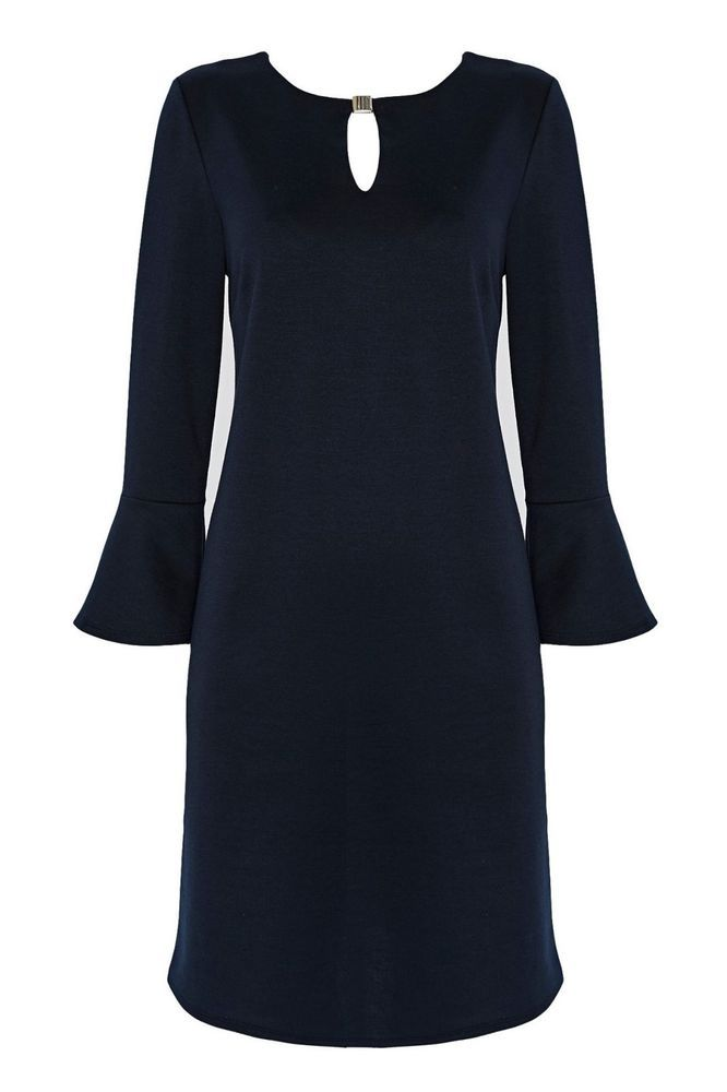 Wallis Navy Flute Sleeve Shift Dress Size Uk 16 Rrp 35 Dh182 Bb 05 Fashion Clothing Shoes Accessories Wom Dresses Long Sleeve Shift Dress Shift Dresses Uk