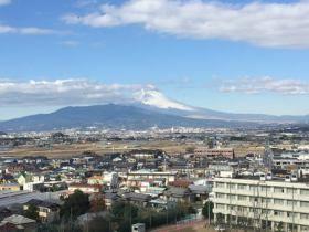 韮崎城からの富士山