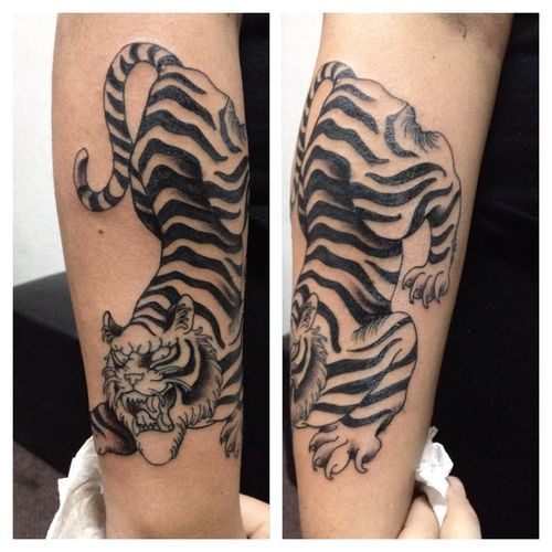 Beautiful Tiger Tattoo Design On Thigh: 22 Best Leg Tattoo Images On Pinterest