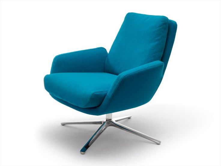 Swivel Upholstered Armchair Cordia By Cor Design Jehs