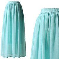 Шифоновая юбка светло-голубая