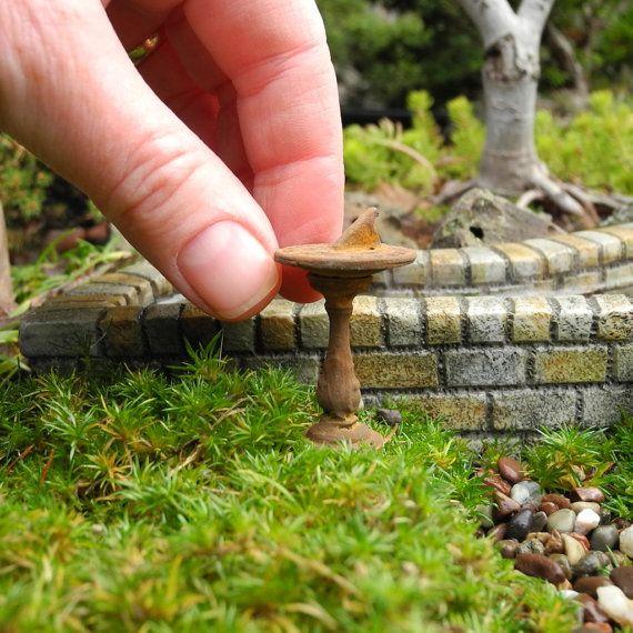 Miniature Garden Sundial, for Mini, Fairy or Terrarium Garden, Rustic, Classic, Staked ~> now up in the Etsy Store! Click in… #miniaturegarden